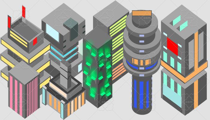 skyscrapers cyberpunk