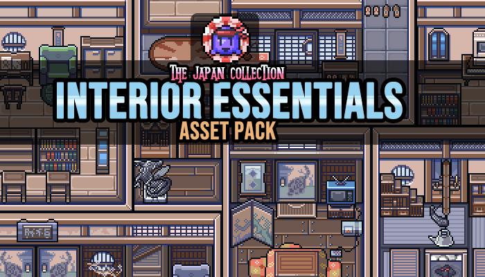 Japanese Interior Essentials Game Assets