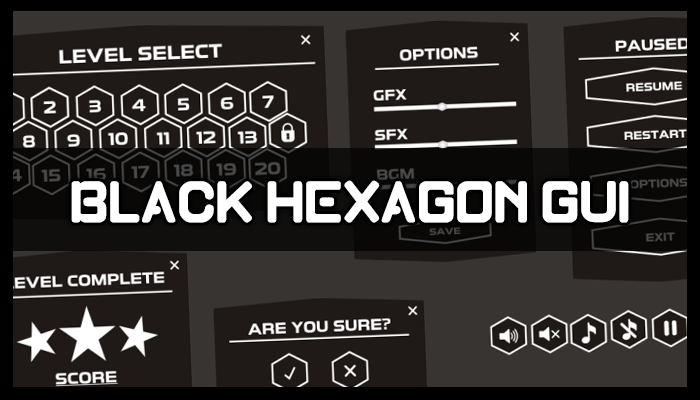 Black Hexagon GUI