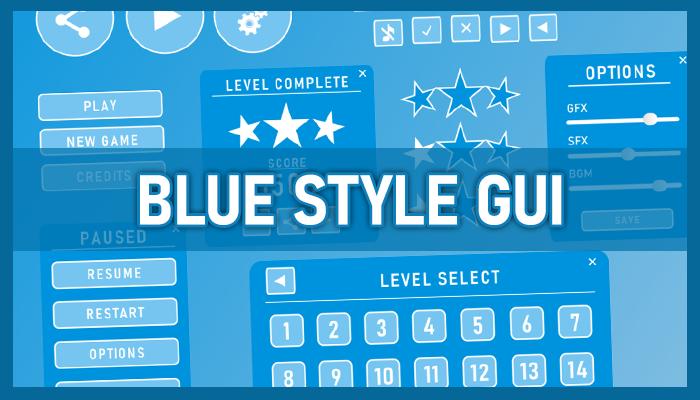 Blue style GUI