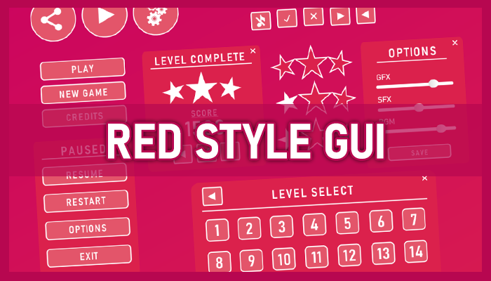 Red style GUI