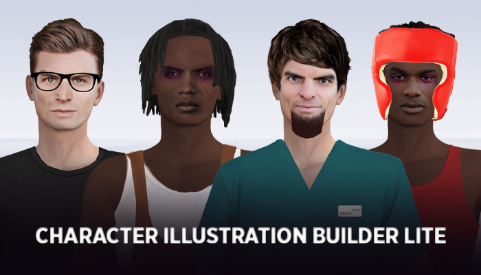 Dialogue Character Illustration Builder LITE – Male – Series 1
