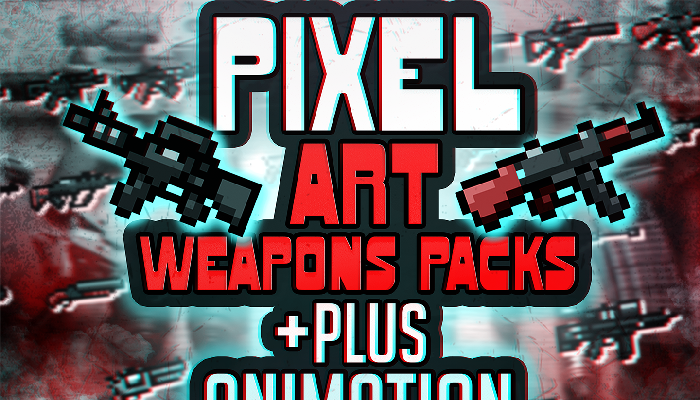 Pixel Art Weapons Pack + Animation