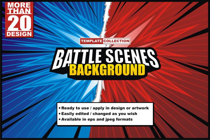 Battle Scenes Background Template Set