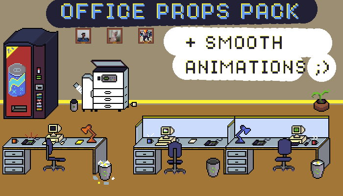 Office Props Pack + smooth animations
