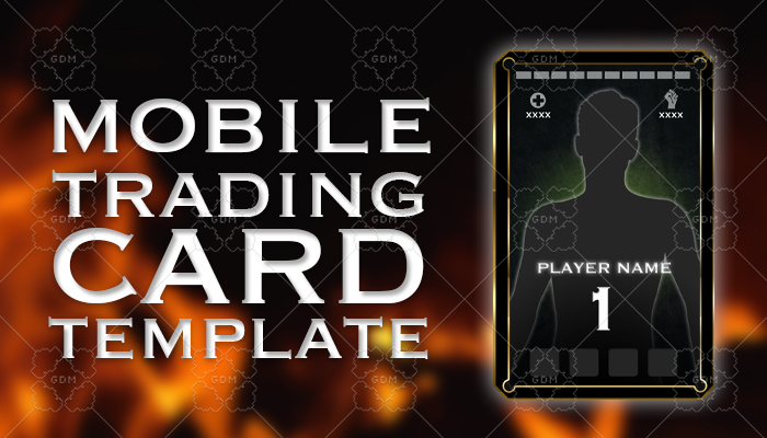 Character Trading Card Template – Mobile Game