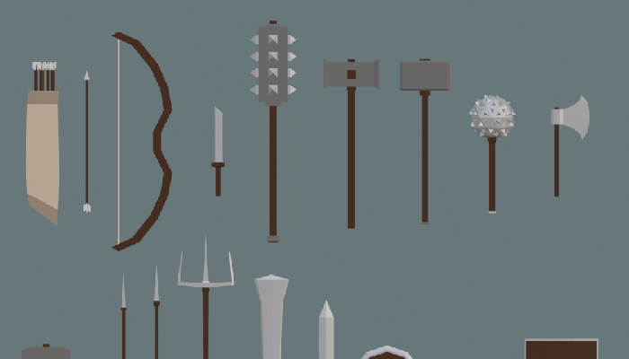 Medieval low poly weapon pack