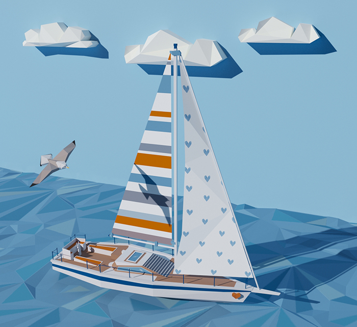 Low Poly Yacht