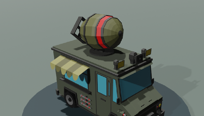 War Truck low poly