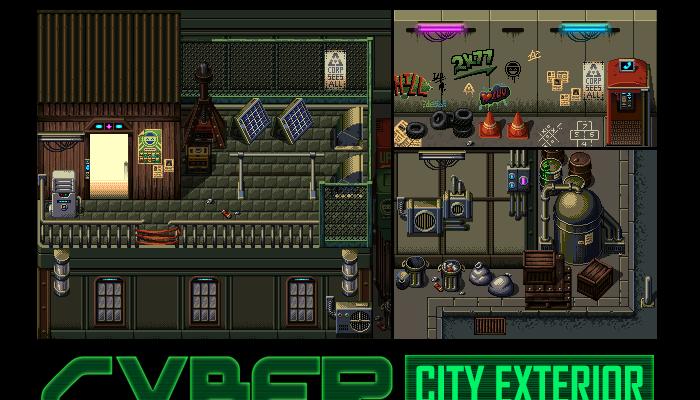 Cyber City City Exterior Tileset