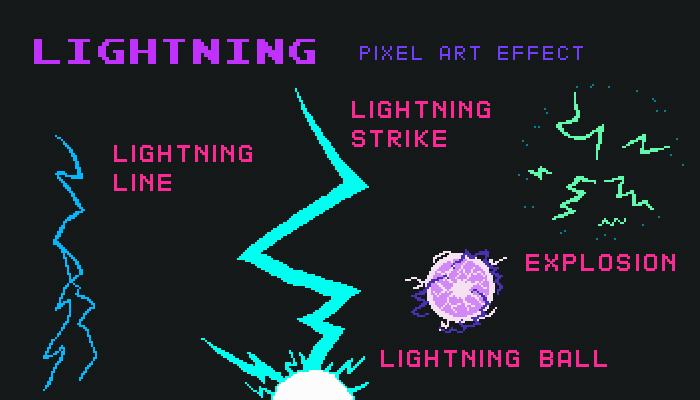 Lightning Pixel Art Effect