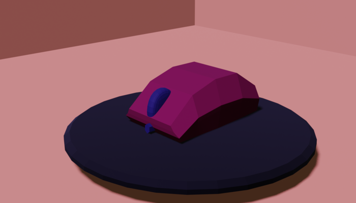 low poly mouse