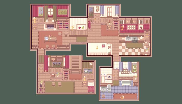 [SWEET HOME] PIXEL TILESET