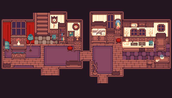 [MYSTERY HOUSE] PIXEL TILESET