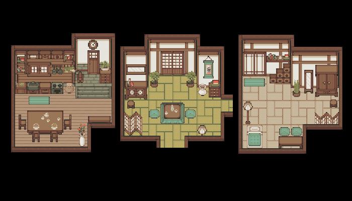[JAPANESE HOUSE] PIXEL TILESET