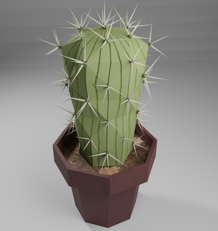 Lowpoly Cactus