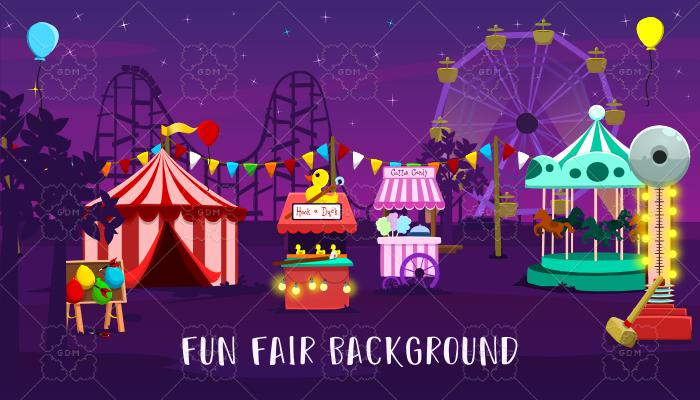 Fun fair background