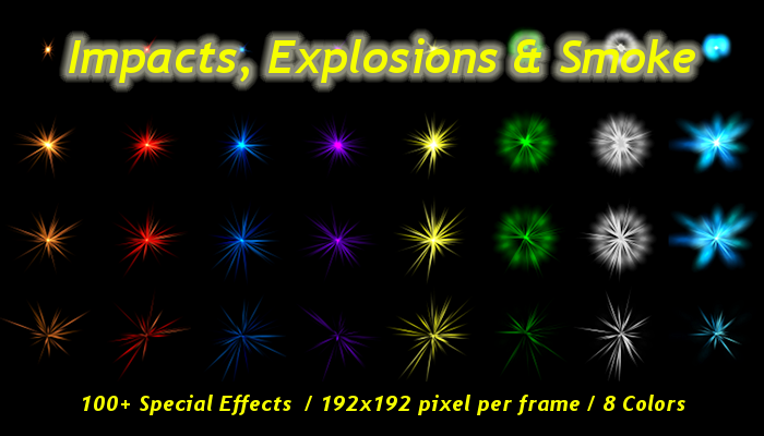 100 Impact & Explosion Special Effects Sprite Sheets