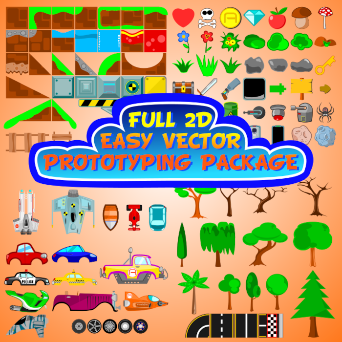 FULL 2D EASY VECTOR PROTOTYPING PACKAGE