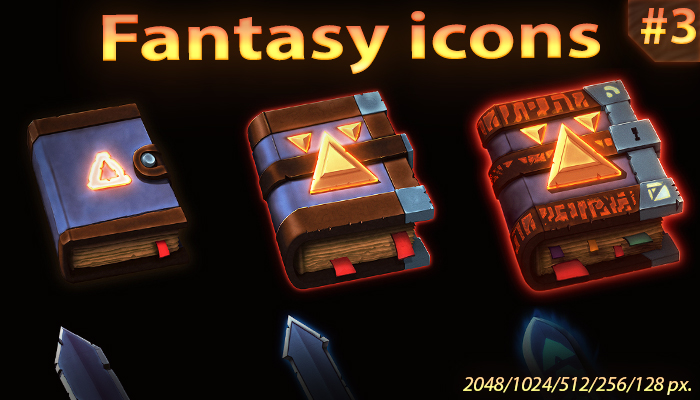 Fantasy items icon set #3