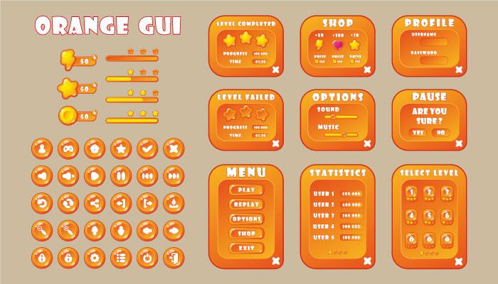 GUI orange