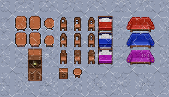 Basic Furniture Sprites