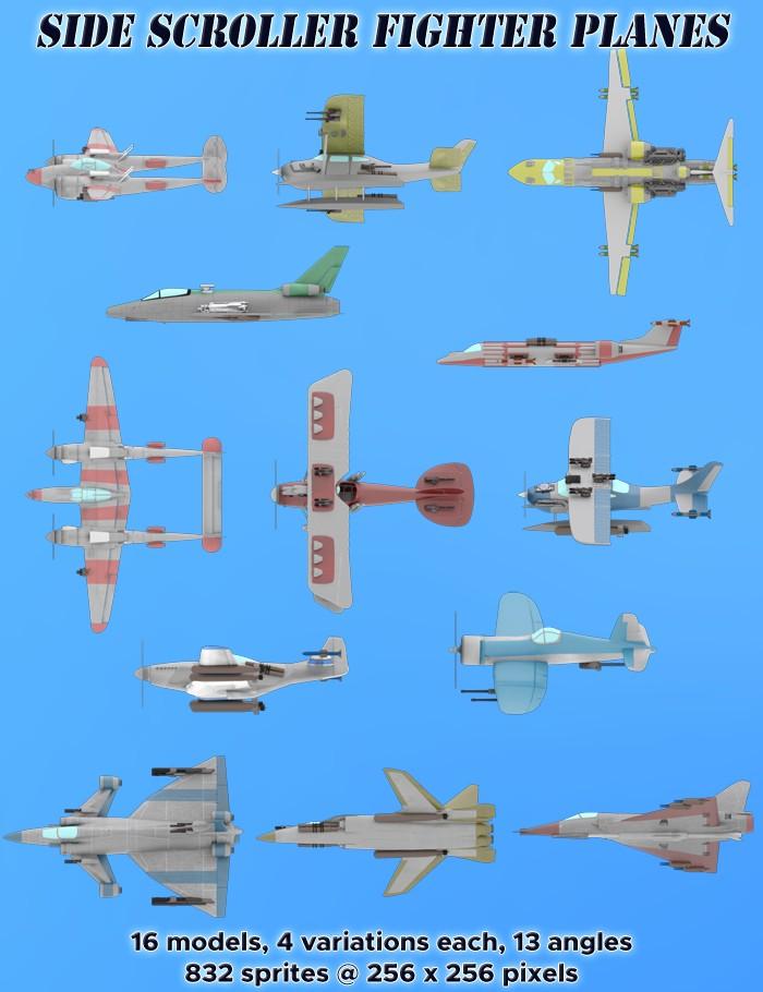 Side Scroller Fighter Planes