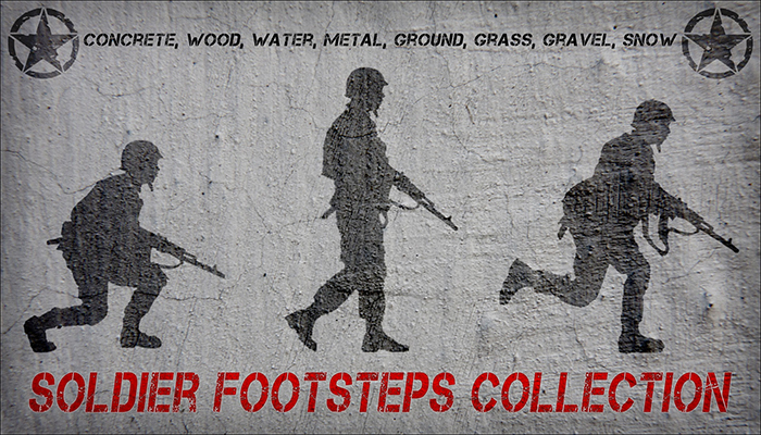 Soldier Footsteps Crouch, Walk, Run.