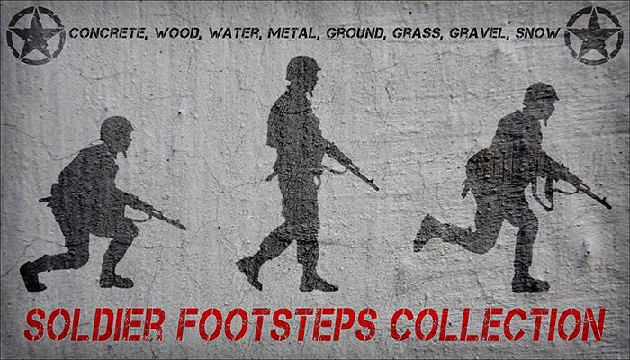Soldier Footsteps Crouch, Walk, Run.
