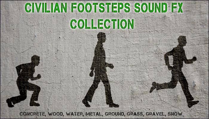 Civilian Footsteps Crouch, Walk, Run.