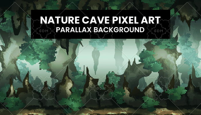 Nature Cave PixelArt Background