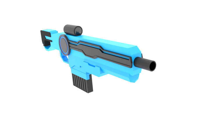 Low Poly Sci-fi Rifle
