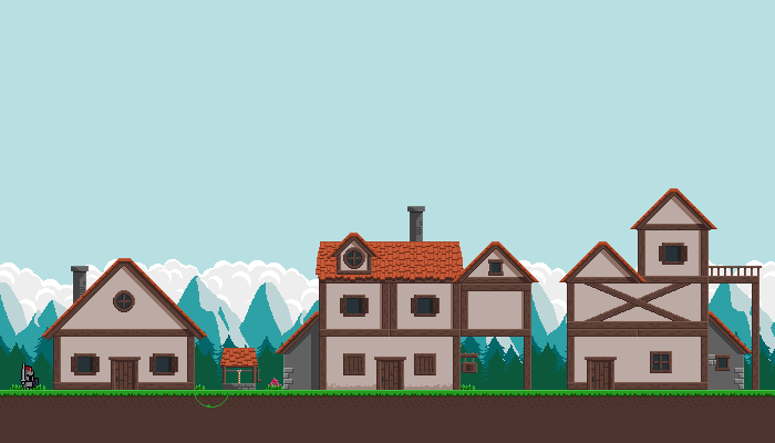 Medieval Modular Houses Pixel Art