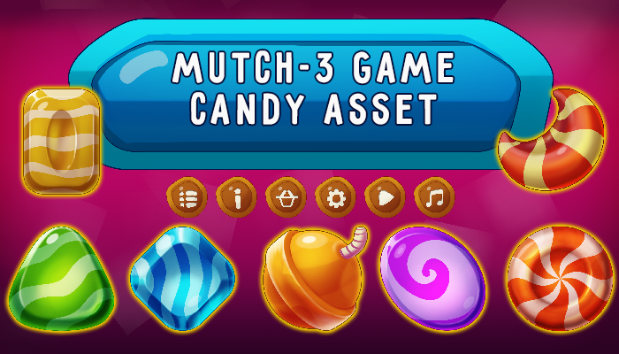 Match-3 Candy Asset