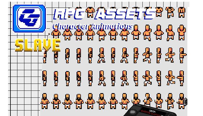 RPG Asset Character Bundle 'Slave' (SMS)