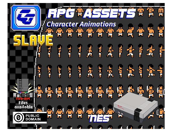 RPG Asset Character Bundle 'Slave' (NES)