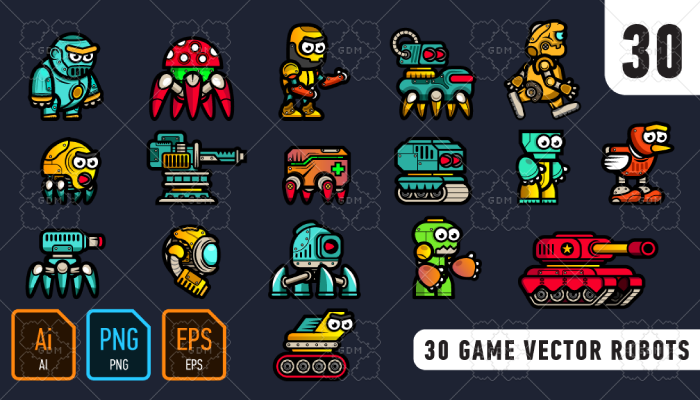 30 game vector robots