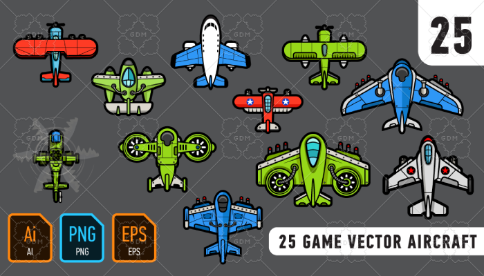 25 game vector aircraft