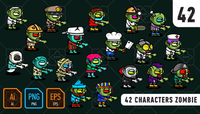 42 characters zombie