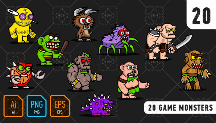 20 game monsters