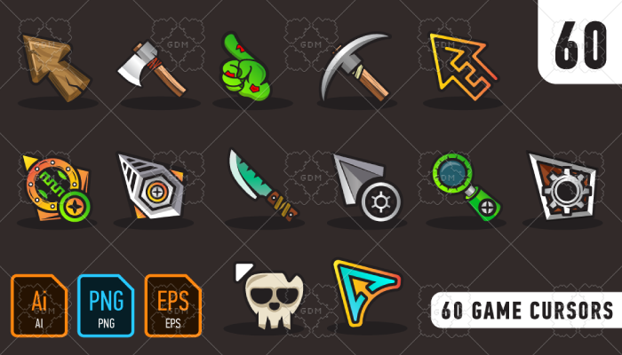 60 game cursors