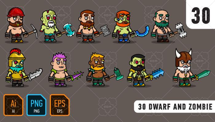 30 Dwarf and Zombie