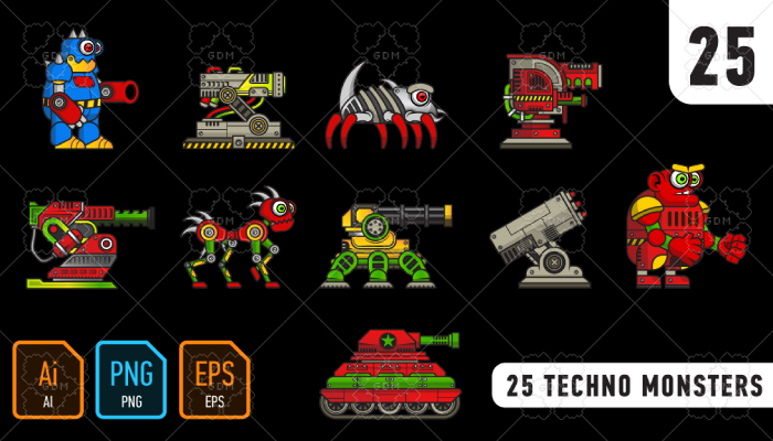25 techno monsters