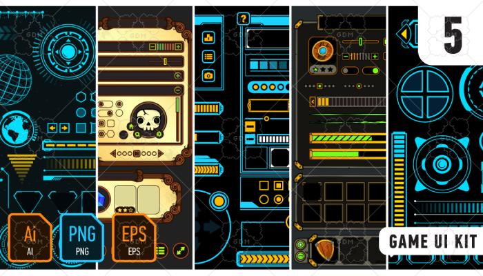 5 Game UI Kits