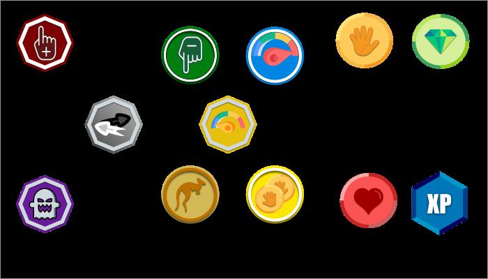 2D icons retro game