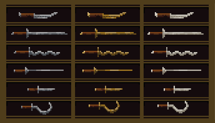 Simple pixel weapon pack