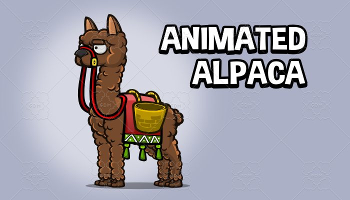 Animated alpaca
