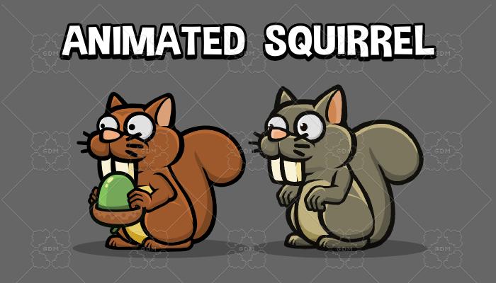Animated squirrel