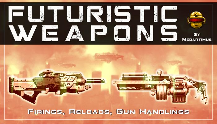 Steampunk Weapons Firing, Reloads, Gun Handlings