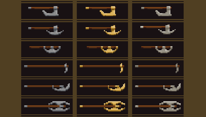 Simple pixel weapon pack 2